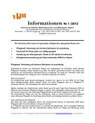 Informationen Nr.1 /2012 - VKM Bayern