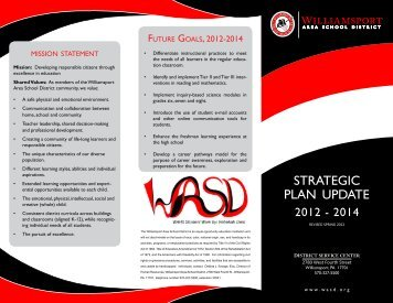 Strategic Plan 2012-14 - Wasd.org