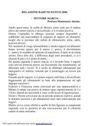relazione raduno 2006 - marcia - Fidal Piemonte