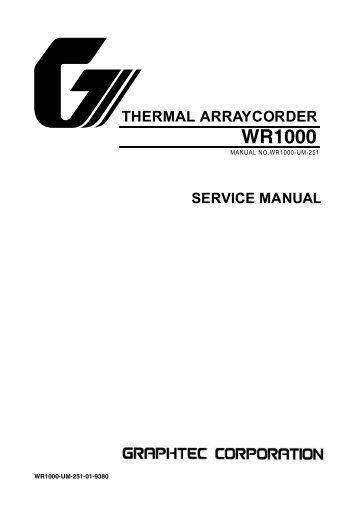 WR1000 -UM251-01-9380 - Graphtec