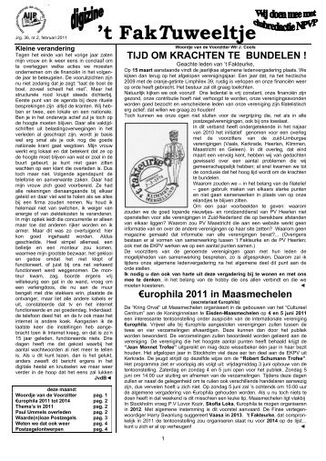 jrg. 36 nr. 2 febr. 2011 - Eerste Kerkraadse Philatelisten Vereniging