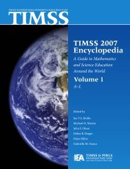 TIMSS 2007 Encyclopedia: A Guide to Mathematics and Science