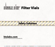 Filter Vial Safety Solutions - Thomson Instrument Company