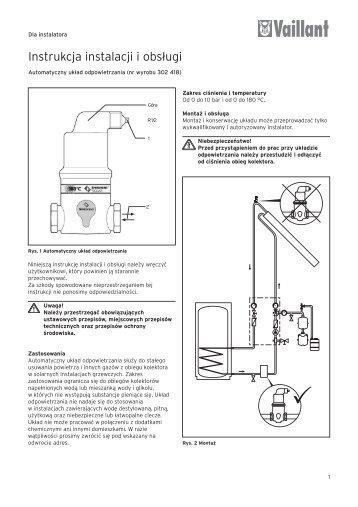 Instrukcja instalacji solarny separator powietrza (0.12 MB) - Vaillant