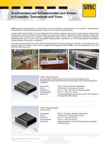schiebemulden und durchreichen f r theken sitec. Black Bedroom Furniture Sets. Home Design Ideas