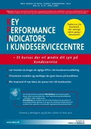 Key Performance IndIcators I KundeservIcecentre - MBCE