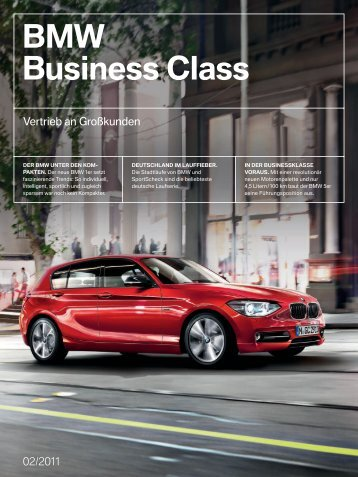 BMW Business Class INHALT - BMW Deutschland