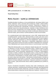 Reilu Suomi – työtä ja välittämistä - Policy Network