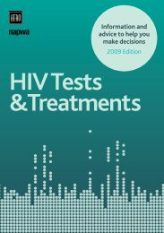 HIV tests and treatments - People Living with HIV/AIDS South Australia