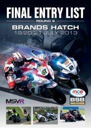 BRANDS HATCH - MotorSport Vision Racing