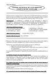 conseil municipal du 15 fevrier 2011 compte rendu sommaire - Joeuf