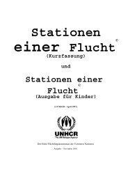 Rollenspiel - Stationen einer Flucht - UNHCR