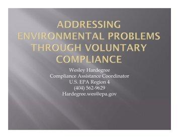 Compliance Assistance Role in Regulatory Compliance