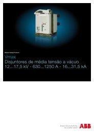 Vmax Disjuntores de média tensão a vácuo 12...17,5 kV - 630...1250 ...