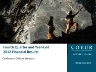 2013-02-21 4Q and Year-End 2012.pdf - Coeur d'Alene Mines Corp.