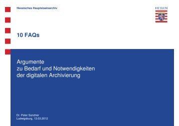 10 FAQs Argumente zu Bedarf und Notwendigkeiten der digitalen ...