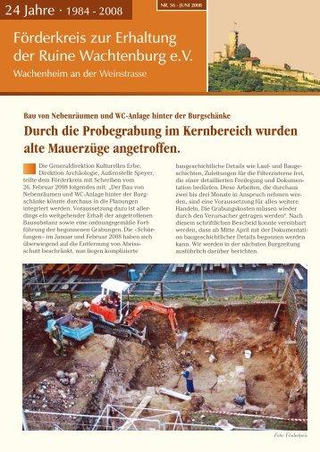 Burgzeitung vom Juni 2008 - Wachtenburg