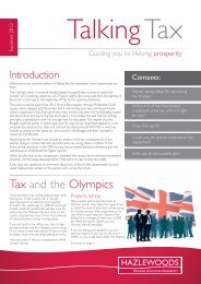 Tax and the Olympics - Hazlewoods