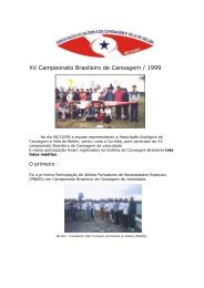 XV Campeonato Brasileiro de Canoagem / 1999 - Confederação ...