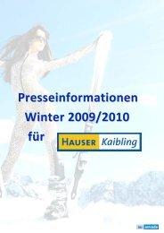 Presseinformationen Winter 2009/2010 für - Hauser Kaibling