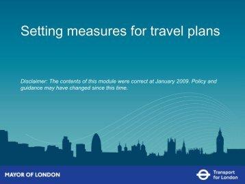 Setting measures for travel plans (PDF 474kb)