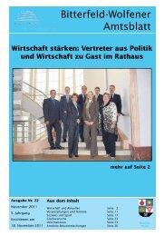 Amtsblatt 22-11 erschienen am 18.11.2011.pdf - Stadt Bitterfeld ...