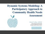 Dynamic Systems Modeling: A Participatory ... - AcademyHealth