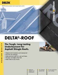 DELTA®-ROOF - Cosella-Dörken Products, Inc