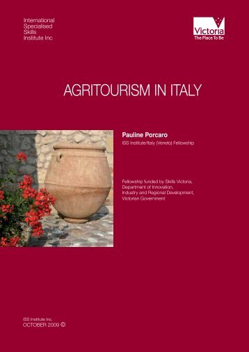 AGRITOURISM IN ITALY - International Specialised Skills Institute