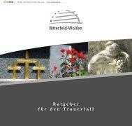 Ratgeber für den Trauerfall - Stadt Bitterfeld-Wolfen