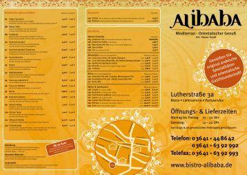 63 92 992 Telefax: 0 36 41 - Bistro Alibaba Jena
