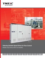 Selecting Variable Speed Drives for Flow Control ... - Tmeic.com