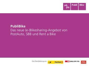PubliBike - Koordination Bikesharing Schweiz