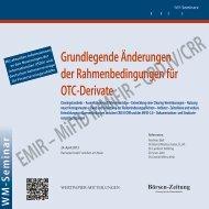EMIR – MiFID II/MiFIR – CRD IV/CRR - WM Seminare
