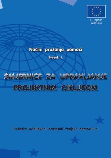 Smjernice za upravljanje projektnim ciklusom - Ministarstvo ...