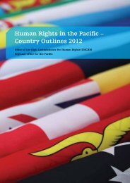 Human Rights in the Pacific, Country Outlines 2012 (v 1.0) - OHCHR ...