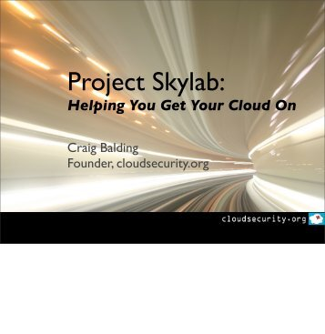 Helping You Get Your Cloud On