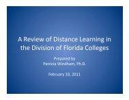 Presentation - Florida Distance Learning Consortium