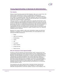 Young Apprenticeship in Business & Administration - Skills CFA