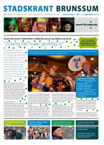 Stadskrant Brunssum, uitgave februari 2012 - Gemeente Brunssum