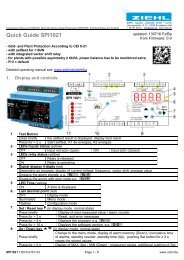 Quick Guide SPI1021 - Ziehl industrie-elektronik GmbH + Co KG