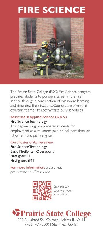 Fire Science Technology Fact Card - Prairie State College