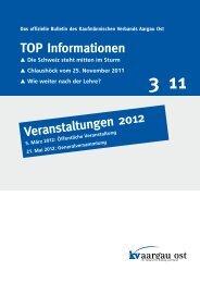 TOP Informationen Veranstaltungen 2012 - KV Schweiz