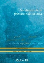 Vocabulaire de la prestation de services - Office québécois de la ...