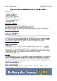 Willkommen zur Mai-Ausgabe des Bytec IBM-Newsletters!