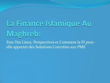 La Finance Islamique au Maghreb - IDB Group Business Forum