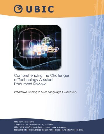 Comprehending the Challenges of Technology Assisted ... - UBIC