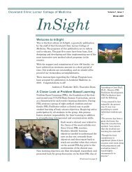 A Closer Look at Problem Based Learning Welcome to InSight
