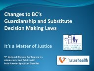 Changes to BC's Guardianship and Substitute Decision Making Laws