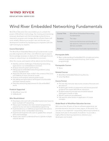 Wind River Embedded Networking Fundamentals